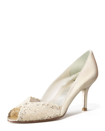 Chantilly Lace Peep-Toe Pump