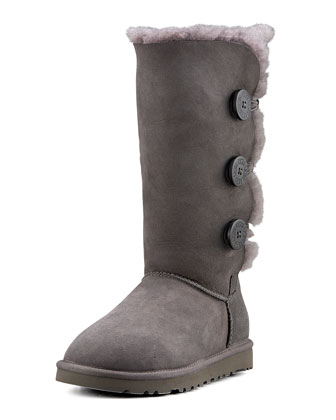 Monogrammed Bailey Triple Button Tall Boot