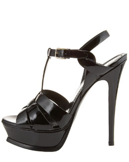 Yves Saint Laurent Tribute Patent Sandal