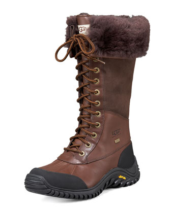 Adirondack Tall Leather Shearling Boot