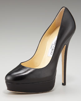 Jimmy Choo Eros Platform Leather Pump
