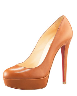 Christian Louboutin Bianca Leather Platform Pump