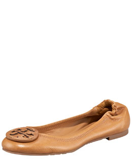 Tory Burch Reva Logo Ballerina Flat, Royal Tan