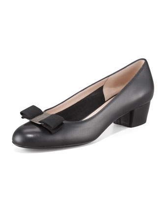 Vara Low-Heel Napa Pump
