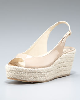Jimmy Choo Polaris Patent Espadrille Pump
