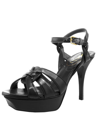 Yves Saint Laurent Tribute Leather Sandal, 4