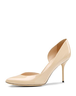 Gucci Noah Mid-Heel Point-Toe Pump