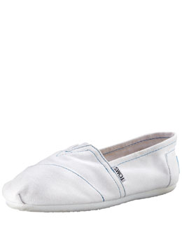TOMS Classic Canvas Slip-On, White