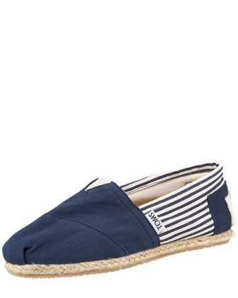 Monogrammed Classic University Slip On, Navy