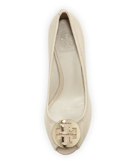 Tory Burch Sally Peep-Toe Wedge Pump
