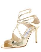 Ivette Mirrored Crisscross Sandal