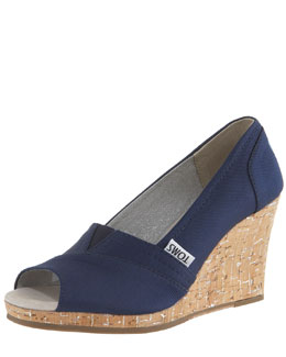 TOMS Rowan Cork Wedge Heel