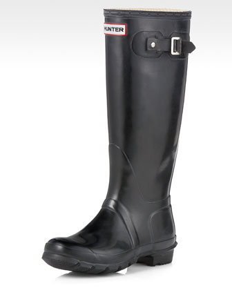 Tall Gloss Boot, Black