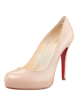Christian Louboutin Rolando Platform Red Sole Pump, Nude
