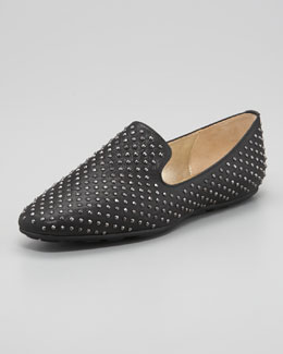Jimmy Choo Wheel Studded Smoking Slipper