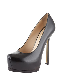 Yves Saint Laurent Tribtoo Textured Patent Pump