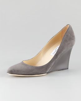 Jimmy Choo Allen Suede Wedge Pump