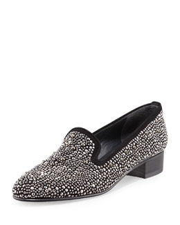 Stuart Weitzman Slipbead Studded Smoking Slipper