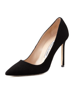 Manolo Blahnik BB Suede Pump, Black