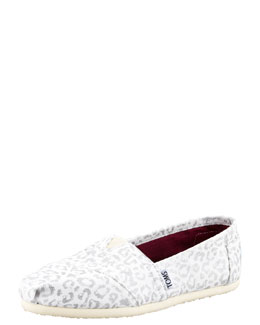 TOMS Snow-Leopard Canvas Slip-On
