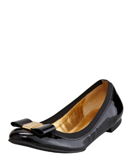 kate spade new york tock stretch-trim ballerina flat