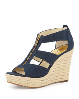 MICHAEL Michael Kors  Damita Canvas Wedge
