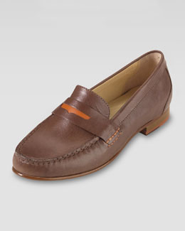 Cole Haan Monroe Penny Moccasin, Sequoia/Orange