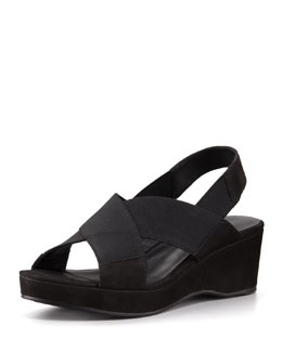 Eileen Fisher Crisscross Slingback Wedge