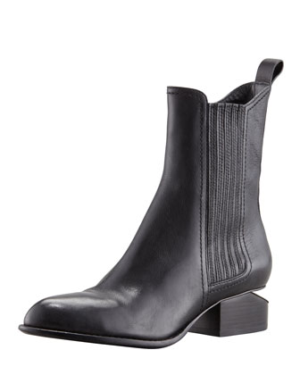 Anouck Lift-Heel Chelsea Boot, Nickel