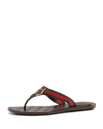 Web Thong Sandal, Cocoa