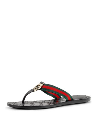 Web Thong Sandal, Black