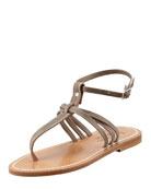 Papyrus Ankle-Strap Thong Sandal