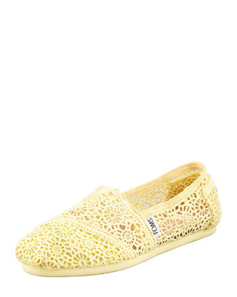 Crochet Slip-On, Lemon Yellow