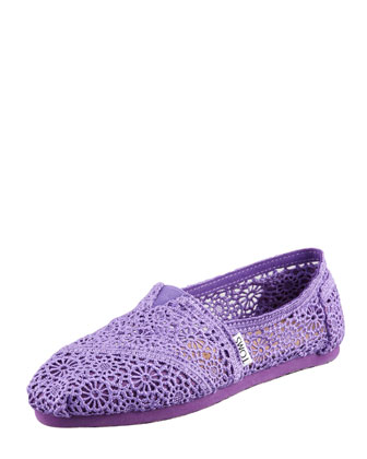 Crochet Slip-On, Purple