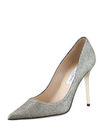 Abel Glitter Pointed Pump, Light Bronze