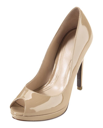 Chelsea Open Toe High Pump, Sandstone