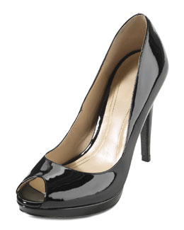 Cole Haan Chelsea Open Toe High Pump, Black