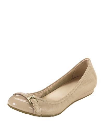 Cole Haan Air Reesa Buckle Ballerina Flat, Sandstone
