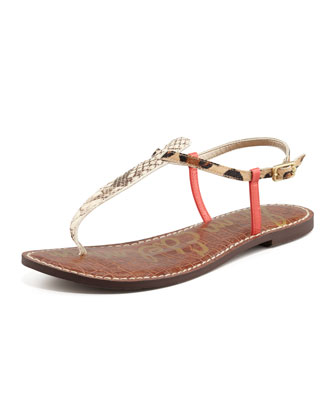 Gigi Animal-Print Sandal