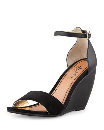 Thyme Wedge Sandal, Black