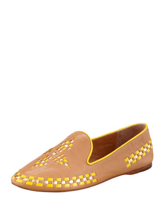 Runway Marlow Leather Topstitch Trim Loafer