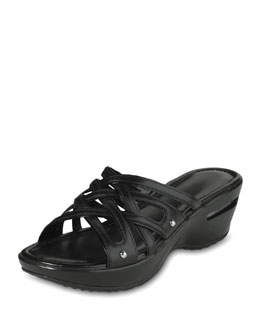 Cole Haan Air Ezra Strappy Wedge, Black