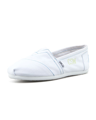 Personalized Classic Canvas Slip-On, White