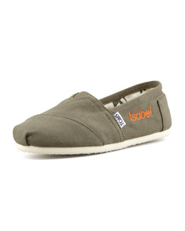 TOMS Personalized Classic Canvas Slip-On, Olive
