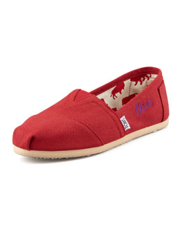 TOMS Personalized Classic Canvas Slip-On, Red