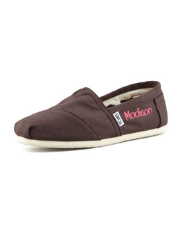 TOMS Personalized Classic Canvas Slip-On, Chocolate