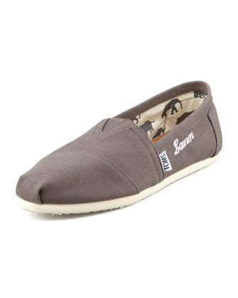 Monogrammed Classic Canvas Slip-on, Ash