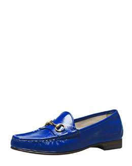 Gucci 60th Anniversary Bit Patent Loafer, Cobalt