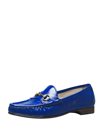 60th Anniversary Bit Patent Loafer, Cobalt