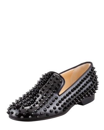 Rolling Spikes Patent Smoking Slipper, Black